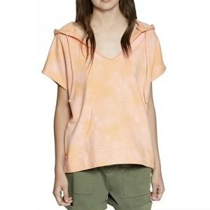 Sanctuary Bahia Tie-Dye Hooded Sweatshirt Orange